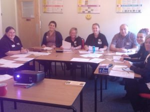 Employees attending 'Dignity in Care' training.
